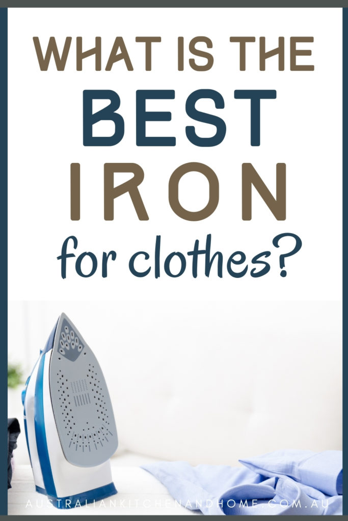 Best iron Australia pin image featuring an iron and a shirt
